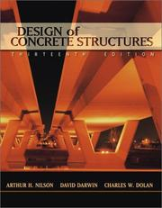 Design of concrete structures by Arthur H. Nilson