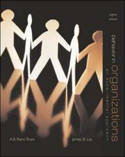 Cover of: Behavior in organizations