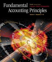 Cover of: Fundamental Accounting Principles Volume 1, ch. 1-13, with FAP Partner Vol. 1 CD-ROM, Net Tutor & PowerWeb Package