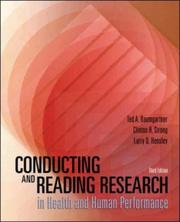 Cover of: Conducting and Reading Research in Health and Human Performance with PowerWeb | Ted A. Baumgartner, Clinton H Strong, Larry D Hensley