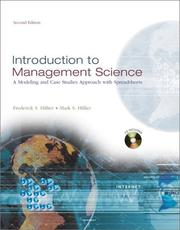 Cover of: Introduction to Management Science | Frederick S. Hillier