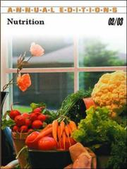 Cover of: Nutrition 02/03 (Annual Editions : Nutrition) | Dorothea J. Klimis-Zacas
