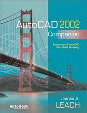 Cover of: AutoCAD 2002 Companion | James A. Leach