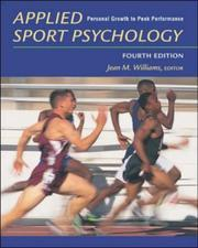 Cover of: Applied Sport Psychology | Jean M. Williams