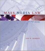 Cover of: Mass Media Law, 2003 Edition, with Free Student CD-ROM | Don R. Pember