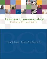 Cover of: Business communication | Kitty O. Locker