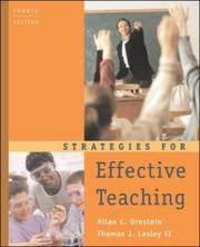Strategies for effective teaching by Allan C. Ornstein