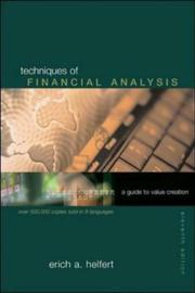 Cover of: Techniques of Financial Analysis with Financial Genome Passcode Card