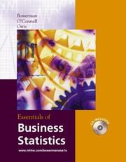 Cover of: Essentials of business statistics