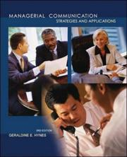 Cover of: Managerial Communication | Geraldine E. Hynes