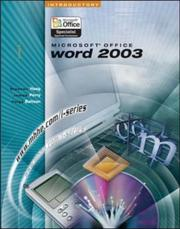 Cover of: Microsoft Office Word 2003, introductory