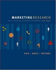 Cover of: Marketing Research (Mcgraw Hill/Irwin Series in Marketing) | Jr., Joseph F. Hair