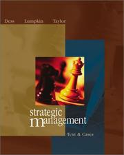 Cover of: Strategic Management | Gregory G. Dess