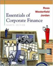 Cover of: Essentials of Corporate Finance + Self Study CD-ROM + PowerWeb