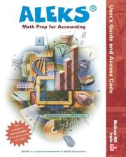 Cover of: ALEKS for Math Prep for Accounting User