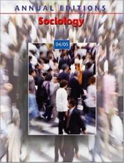 Cover of: Annual Editions: Sociology 04/05