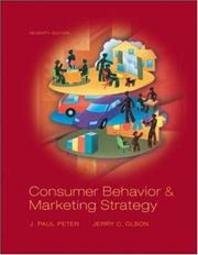 Cover of: Consumer Behavior (Mcgraw-Hill/Irwin Series in Marketing) | J. Paul Peter