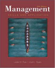Cover of: Management with PowerWeb and Management Skill Booster Passcard | Leslie W. Rue