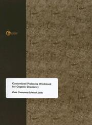 Cover of: Problems Workbook for Organic Chemistry | Paris Svoronos