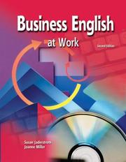 Cover of: Business English at Work, Text Workbook (2nd Printing) | Susan Jaderstrom