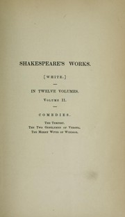 The Works of William Shakespeare: Vol. II