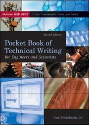 Cover of: Pocket Book of Technical Writing for Engineers & Scientists | Leo Finkelstein