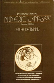 Cover of: Introduction to numerical analysis by Francis Begnaud Hildebrand
