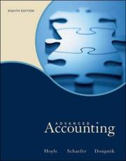 Cover of: Advanced accounting