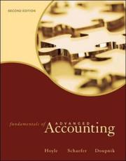 Cover of: Fundamentals of advanced accounting