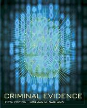 Cover of: Criminal evidence