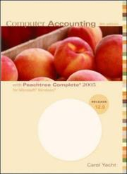 Cover of: Computer Accounting with Peachtree Complete 2005 for Microsoft Windows | Carol Yacht