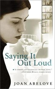 Cover of: Saying it out loud