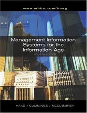 Cover of: Management Information Systems for the Information Age + MIS Info Age Module + MISource V2 CD + PowerWeb