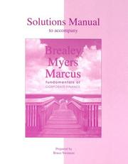 Cover of: Solutions Manual