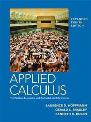 Cover of: Applied Calculus for Business, Economics, and the Social and Life Sciences, Expanded Edition | Laurence D. Hoffmann