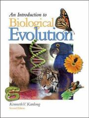 Cover of: An Introduction to Biological Evolution | Kenneth V. Kardong