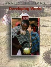 Cover of: Annual Editions: Developing World 05/06 (Annual Editions : Developing World) | Robert J Griffiths