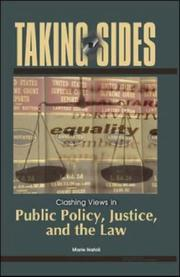 Cover of: Taking Sides: Clashing Views in Public Policy, Justice, and the Law (Taking Sides: Public Policy, Justice, & the Law) | Marie Natoli