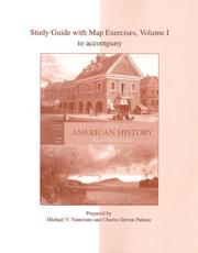 Cover of: Study Guide to accompany American History: A Survey, Vol. I | Alan Brinkley