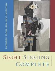 Cover of: Sight Singing Complete | Maureen A Carr