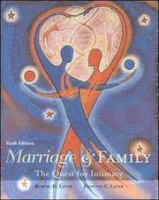 Cover of: Marriage And Family | Robert H. Lauer