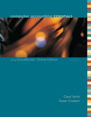 Cover of: Computer Accounting Essentials Using QuickBooks | Carol Yacht