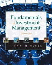 Cover of: Fundamentals of Investment Management with S&P access code (McGraw-Hill/Irwin Series in Finance, Insurance, and Real Est) | Geoffrey A. Hirt
