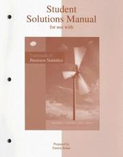 Cover of: Student solutions manual for use with Essentials of business statistics, second edition, Bruce L. Bowerman [and others]