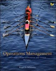 Cover of: Operations Management | Roger G. Schroeder