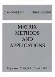 Matrix methods and applications