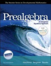 Cover of: Prealgebra (Streeter Series in Mathematics) | Donald Hutchison
