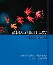 Cover of: Employment Law for Business with Powerweb card | Dawn D. Bennett-Alexander