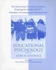Cover of: The Educational Psychology Guide to Preparing for PRAXIS for use with Educational Psychology