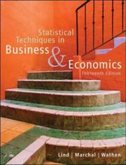 Cover of: Statistical Techniques in Business and Economics with Student CD | Douglas A. Lind